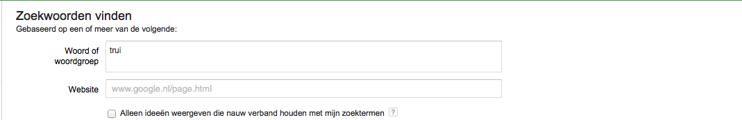 zoekwoorden analyseren